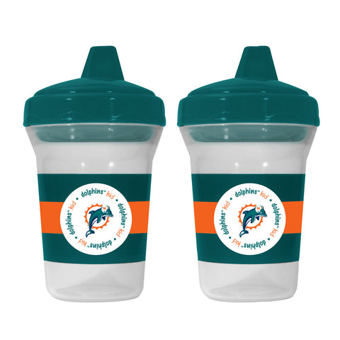 Baby Fanatic 2-Pack Sippy Cups - Miami Dolphins - Peazz.com