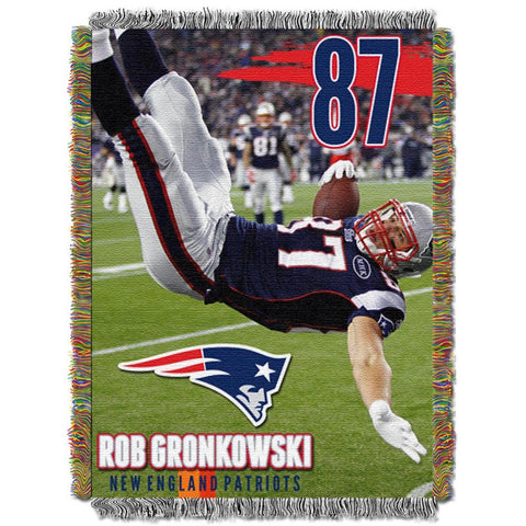 New England Patriots - 48x60 inch tapestry of Rob Gronkowski - Peazz.com