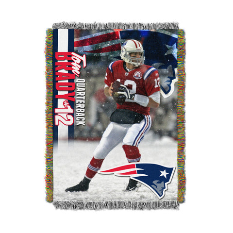 New England Patriots - 48x60 inch tapestry of Tom Brady - Peazz.com