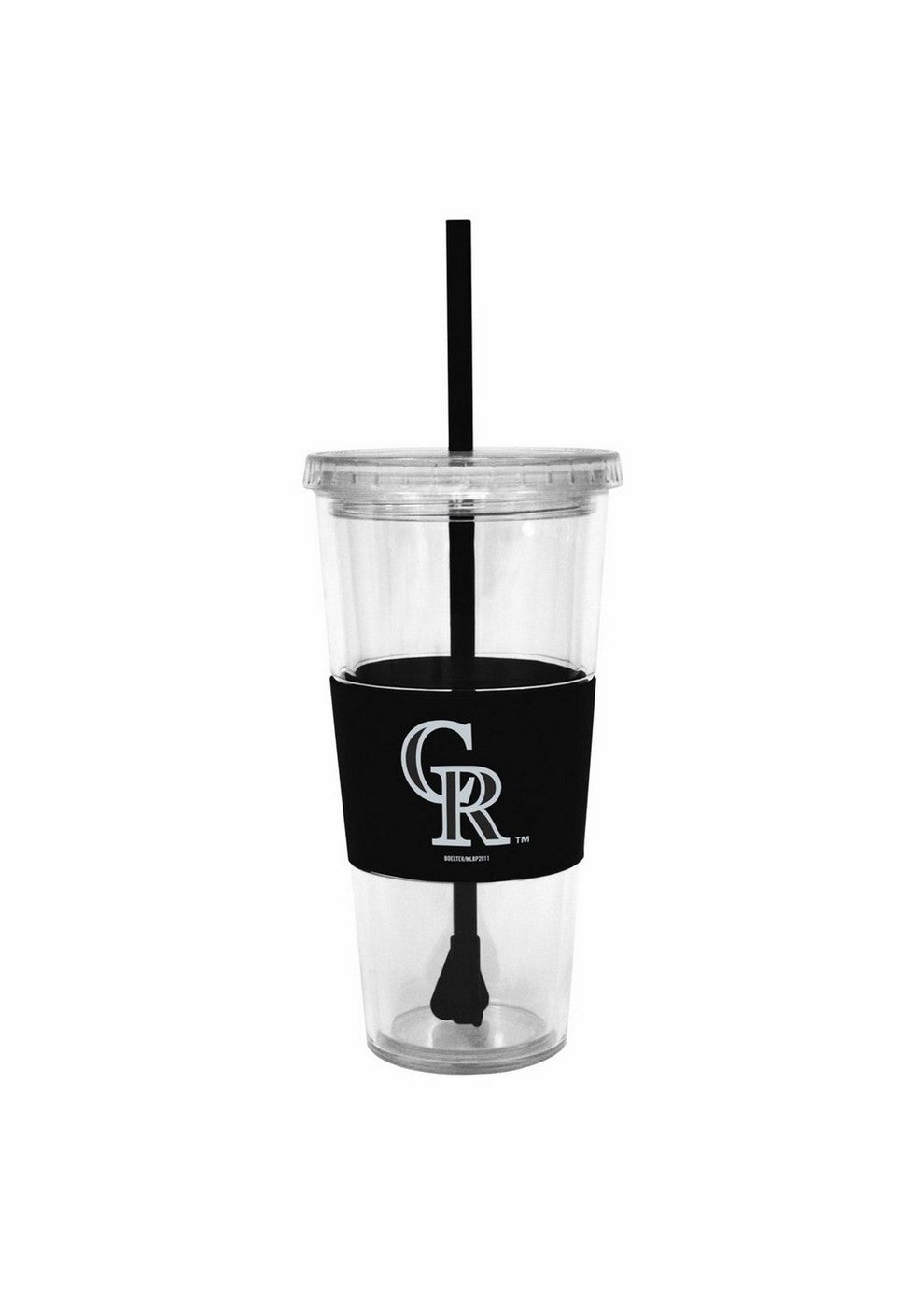 Lidded Cold Cup With Straw - Colorado Rockies