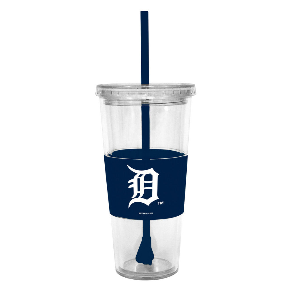 Lidded Cold Cup With Straw - Detroit Tigers