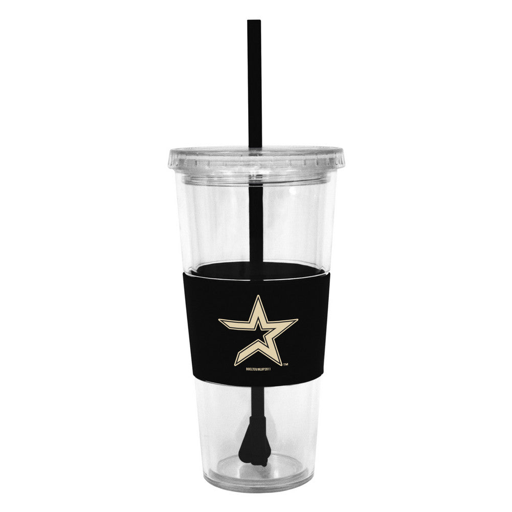 Lidded Cold Cup With Straw - Houston Astros