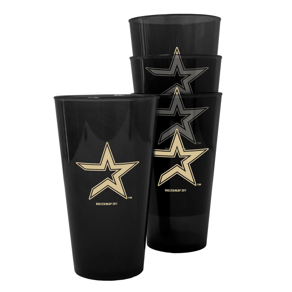 Boelter Plastic Pint Cups 4-pack - Houston Astros