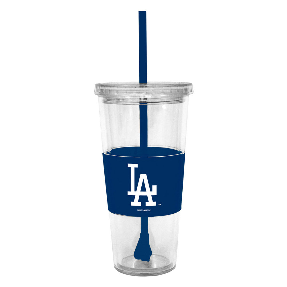 Lidded Cold Cup With Straw - Los Angeles Dodgers