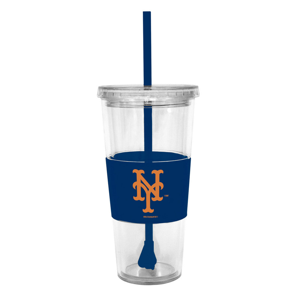 Lidded Cold Cup With Straw - New York Yankees