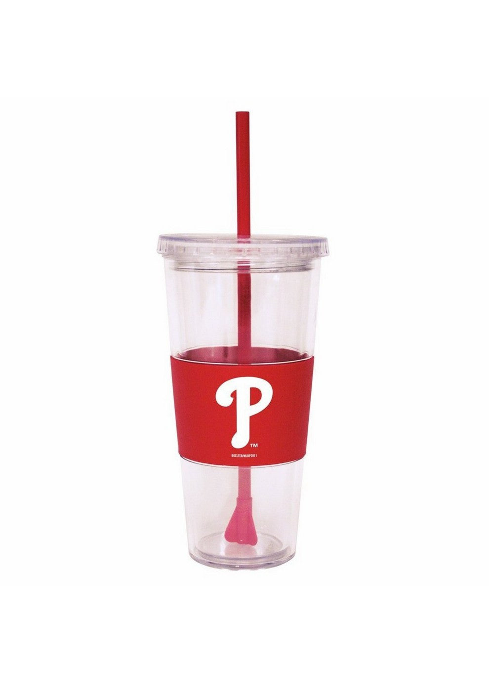 Lidded Cold Cup With Straw - Philadelphia Phillies SPI-BOBBPHIIC