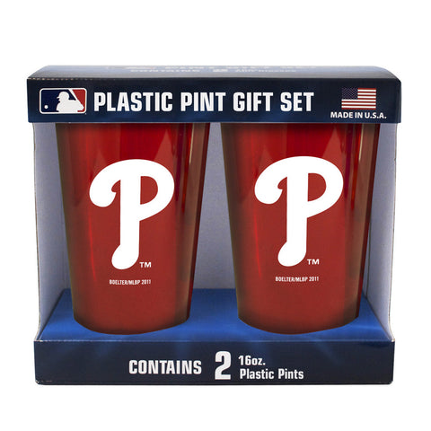 Boelter Brand Plastic 16 Ounce Pint Cups (Pack of 2) - Philadelphia Phillies - Peazz.com