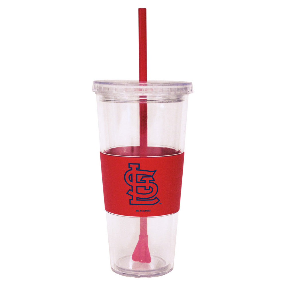 Lidded Cold Cup With Straw - St. Louis Cardinals