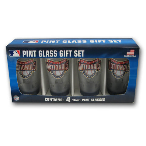 4 Pack Pint Glass MLB - Washington Nationals - Peazz.com