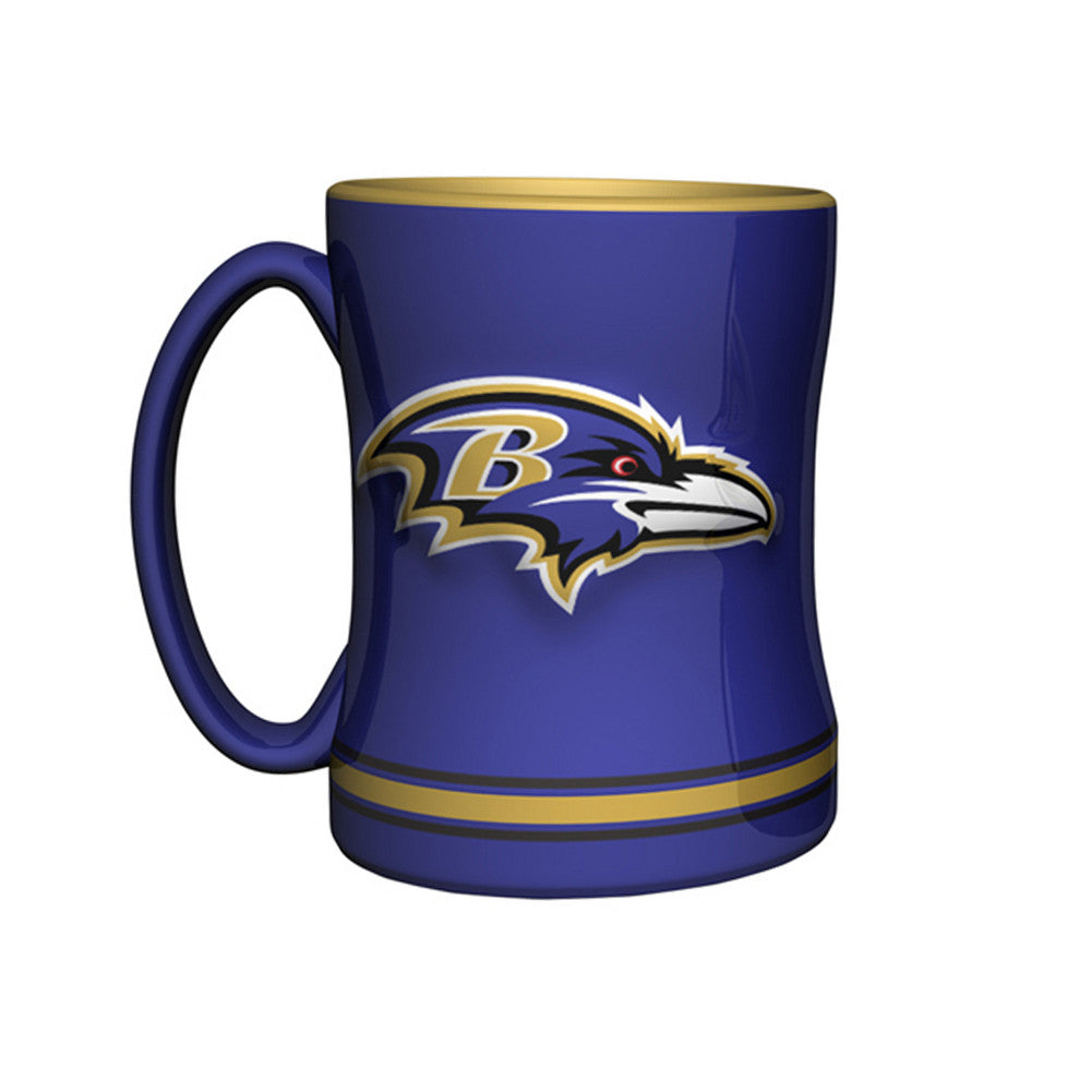 Boxed Relief Sculpted Mug - Baltimore Ravens