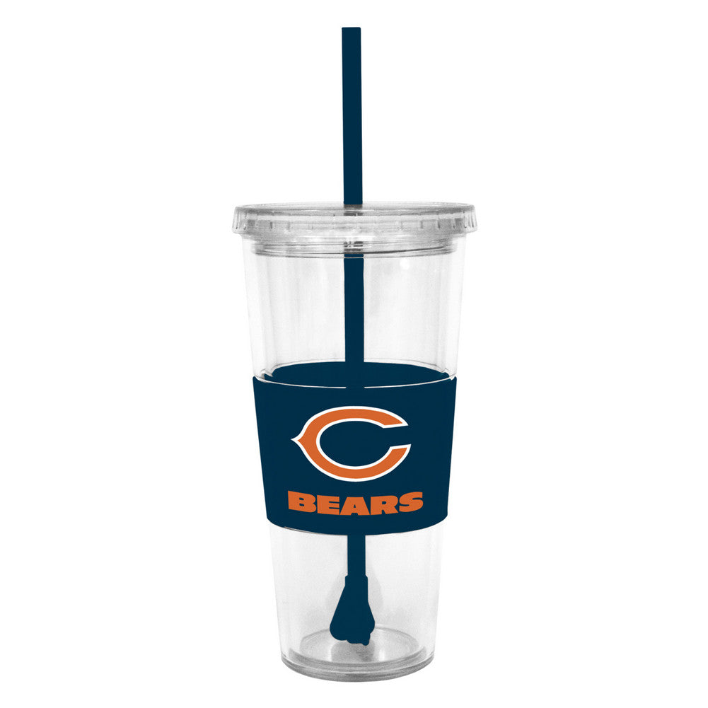Lidded Cold Cup With Straw - Chicago Bears