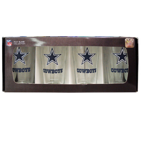 4 Pack Pint Glass NFL - Dallas Cowboys - Peazz.com