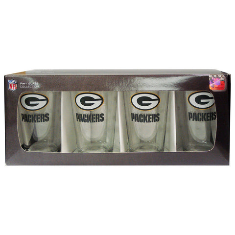 4 Pack Pint Glass NFL - Green Bay Packers - Peazz.com