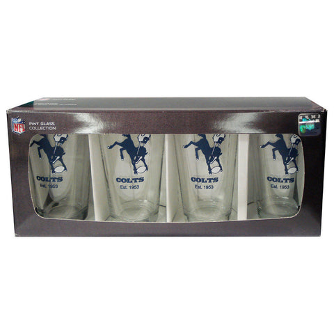4 Pack Pint Glass NFL - Indianapolis Colts - Peazz.com