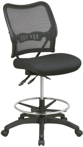 Office Star Space Seating 13-37N30D Deluxe Ergonomic AirGrid® Back Drafting Chair with Mesh Seat - Peazz.com