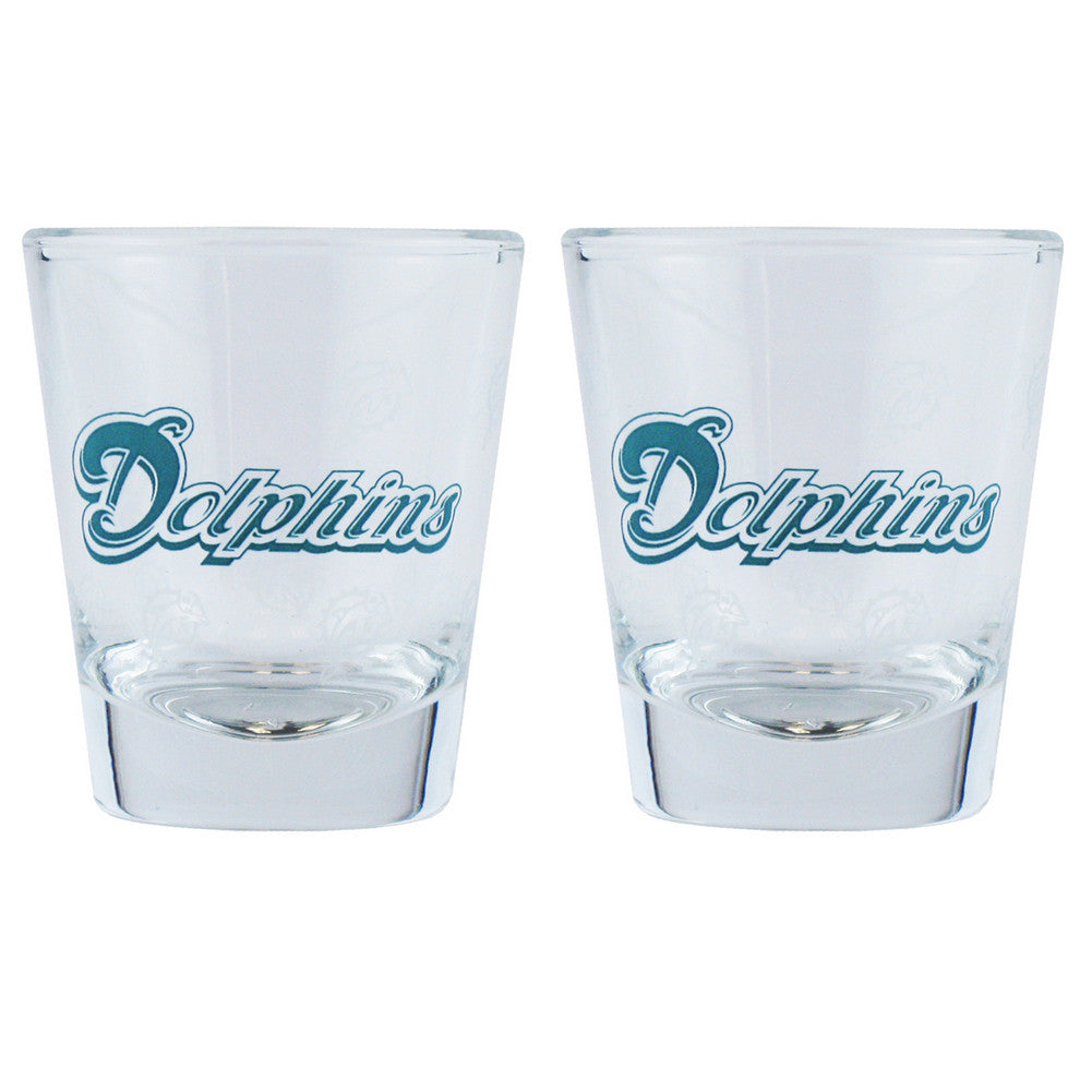 Boelter Shot Glasses 2-Pack - Miami Dolphins SPI-BOFBMIASH
