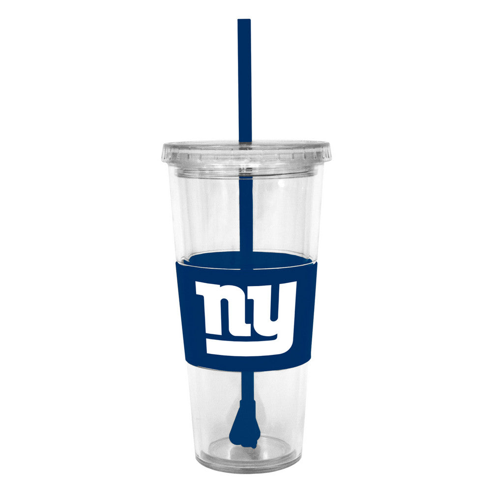 Lidded Cold Cup With Straw - New York Giants