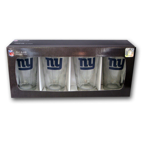4 Pack Pint Glass NFL - New York Giants - Peazz.com