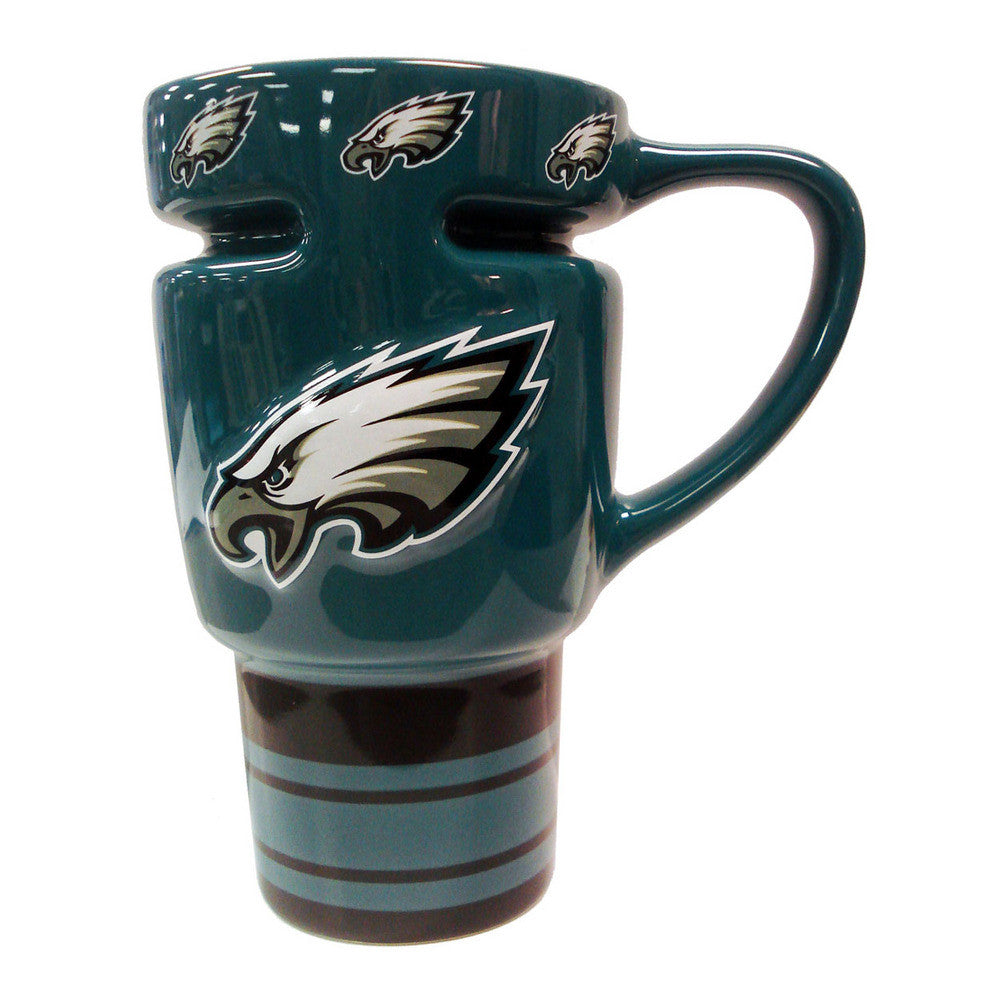NFL 15oz Sculpted Travel Mug - Philadelphia Eagles
