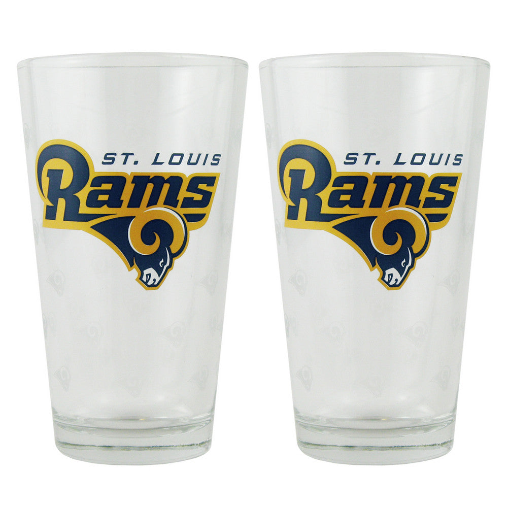 Boelter Pint Glass 2-pack - Saint Louis Rams