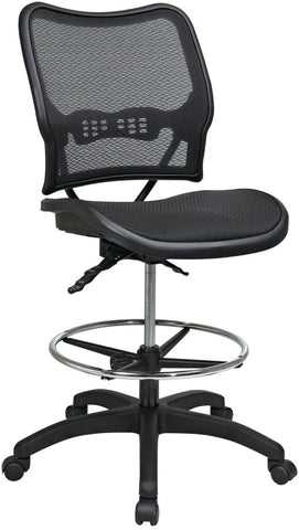 Office Star Space Seating 13-77N30D Deluxe Ergonomic AirGrid® Seat and Back Drafting Chair - Peazz.com
