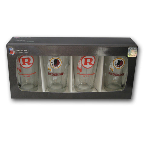 4 Pack Pint Glass NFL - Washington Redskins - Peazz.com