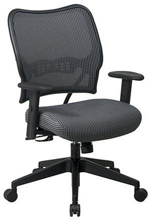Office Star Space Seating 13-V44N1WA Deluxe Chair with Charcoal VeraFlex®  Back and VeraFlex®  Fabric Seat - Peazz.com
