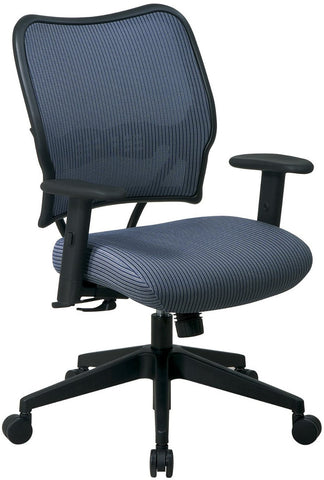 Office Star Space Seating 13-V77N1WA Deluxe Chair with Blue Mist VeraFlex®  Back and VeraFlex®  Fabric Seat - Peazz.com