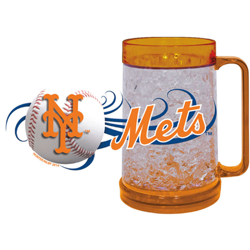 New York Mets 16Oz Crystal Freezer Mug