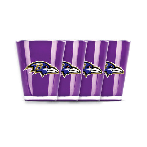4 piece shot glass set - Baltimore Ravens - Peazz.com