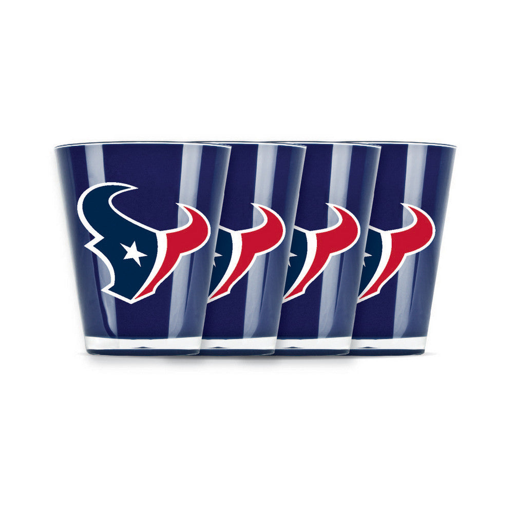 4 piece shot glass set - Houston Texans