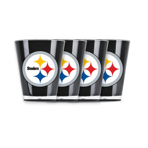 4 piece shot glass set - Pittsburgh Steelers - Peazz.com