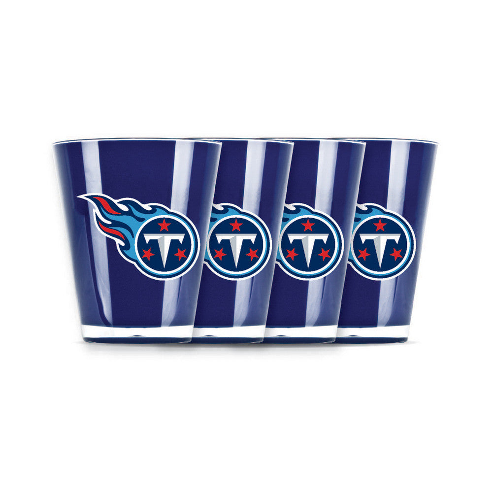 4 piece shot glass set - Tennessee Titans