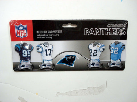 4 Pack Uniform Magnet Set - NFL - Carolina Panthers - Peazz.com