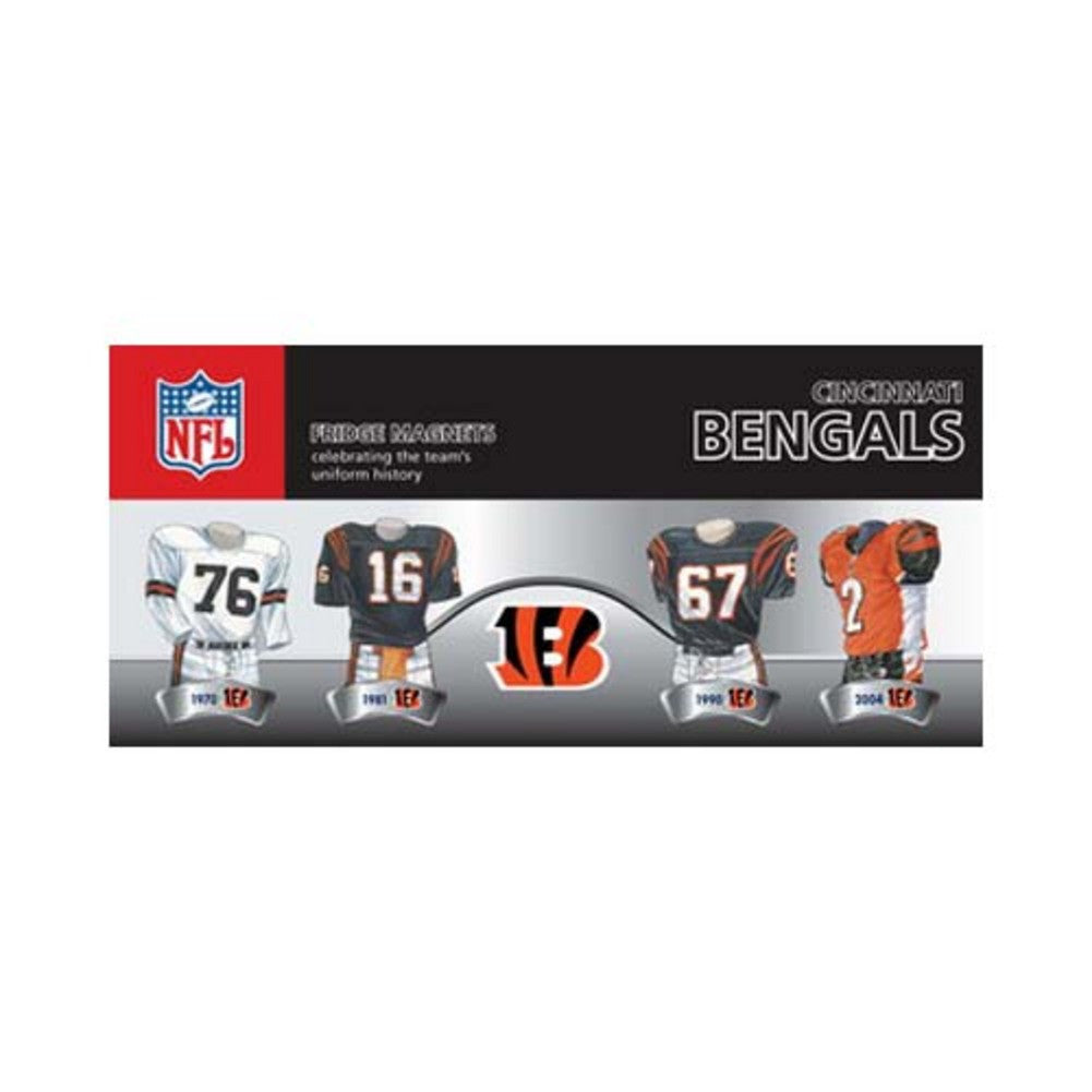 4 Pack Uniform Magnet Set - NFL - Cincinnati Bengals