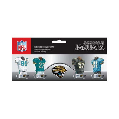 4 Pack Uniform Magnet Set - NFL - Jacksonville Jaguars - Peazz.com