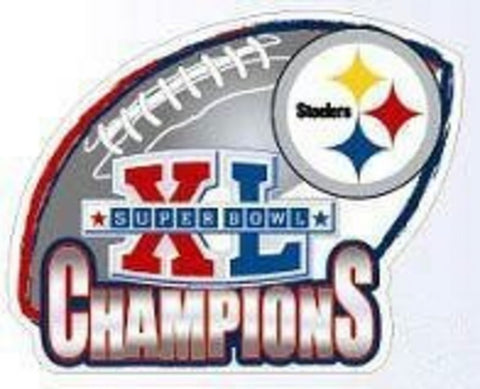 Forever Collectibles Super Bowl XL Champions Steelers Car Magnet - Peazz.com