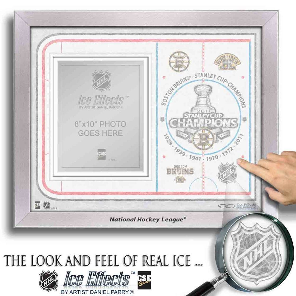 NHL Ice Effects Frames - 2011 Stanley Cup Champions Boston Bruins SPI-FRAMEHKYICESC11