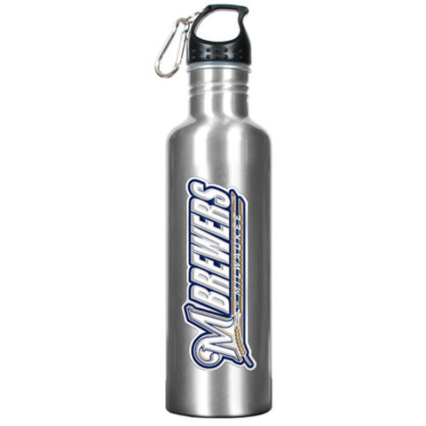 Stainless Steel Water Bottle - Milwaukee Brewers - Peazz.com
