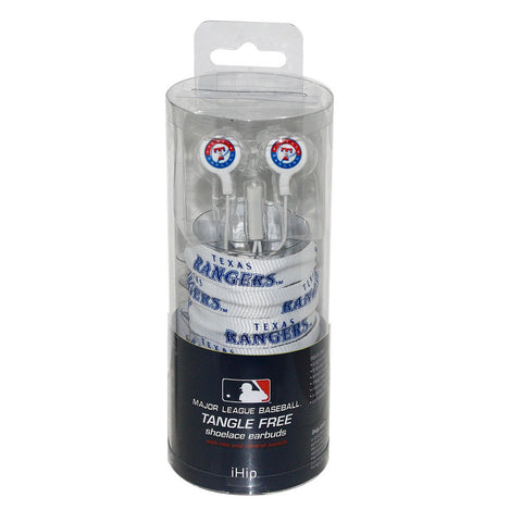 Shoelace Earbuds - Texas Rangers - Peazz.com