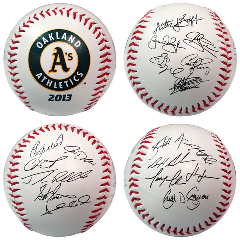 2013 Team Roster Signature Ball - Oakland Athletics - Peazz.com