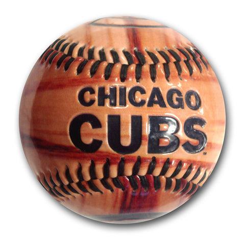 Glossy Wood Grain Baseball - Chicago Cubs - Peazz.com