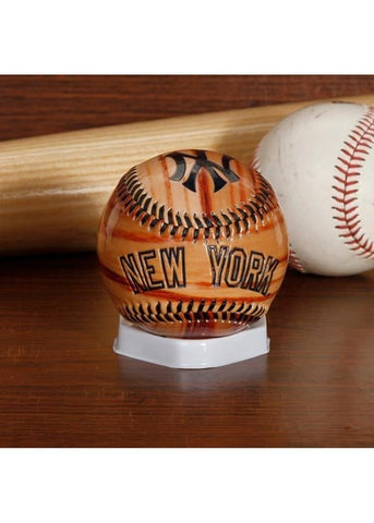 Glossy Wood Grain Baseball - New York Yankees - Peazz.com