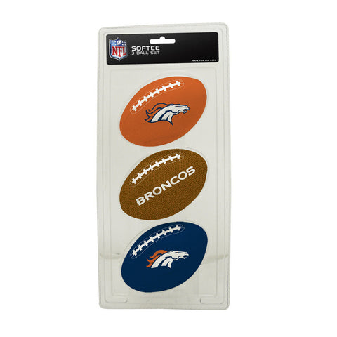 3-Football Softee Set Denver Broncos - Peazz.com