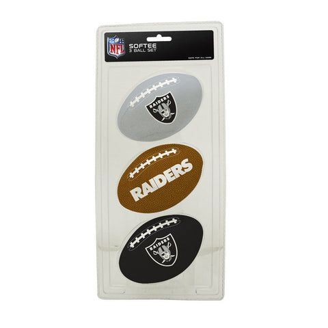 3-Football Softee Set Oakland Raiders - Peazz.com