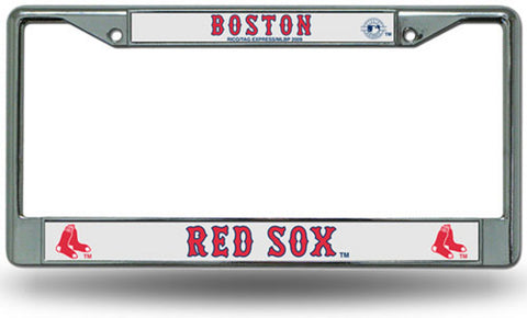 License Plate Chrome Frame MLB - Boston Red Sox - Peazz.com