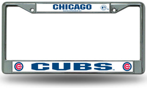 License Plate Chrome Frame MLB - Chicago Cubs - Peazz.com