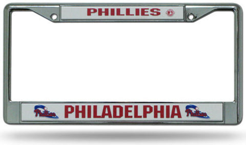 License Plate Chrome Frame MLB - Philadelphia Phillies - Peazz.com