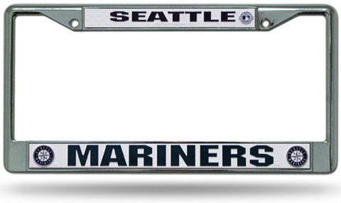 Chrome License Plate Frame - Seattle Mariners - Peazz.com