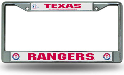 Chrome License Plate Frame - Texas Rangers - Peazz.com